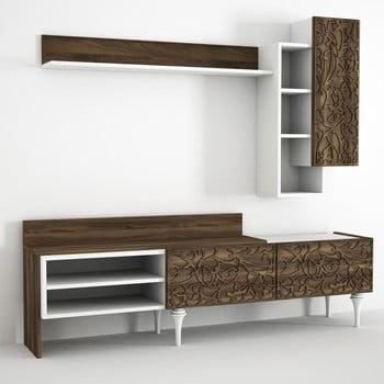 Set comodă TV, raft și dulap perete Lenti de la Tera Home