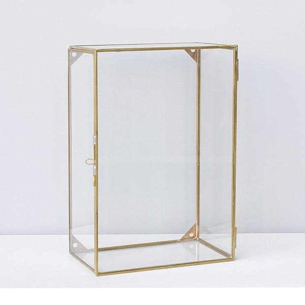 Závěsný box Glass Brass