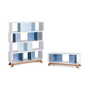 Set Archi Smooth stolek na televizi a knihovna 4 moduly