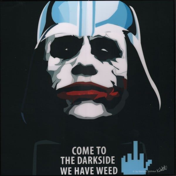 Obraz Darth vader - come to the dark side we have weed