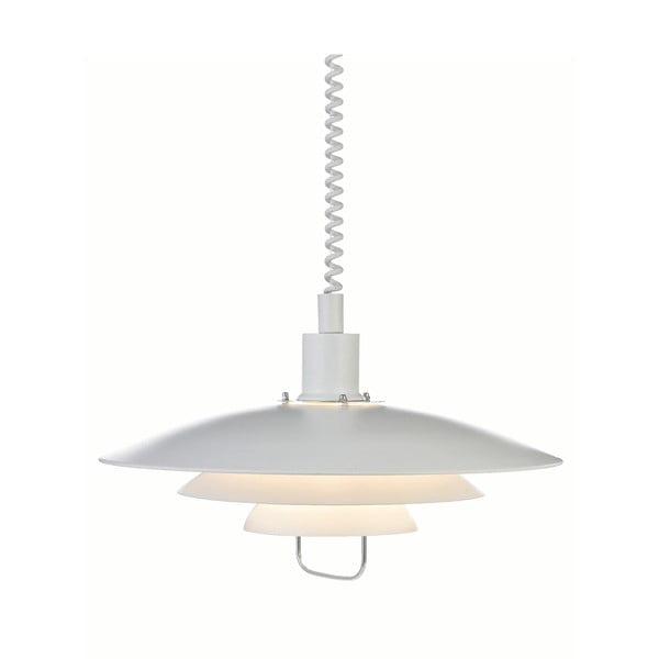 Bílé závěsné svítidlo Markslöjd Kikrenes, ø48cm