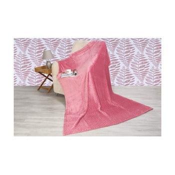 Pătură din amestec de bumbac Aksu Rose, 200 x 150 cm