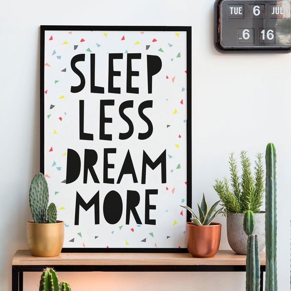 tablou little nice things sleep less 40 x 60 cm bonami. Black Bedroom Furniture Sets. Home Design Ideas