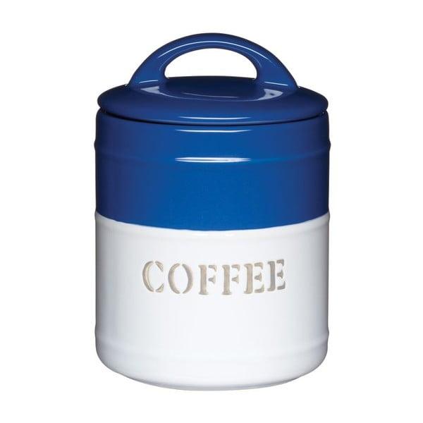 Modrobílá dóza Coffee