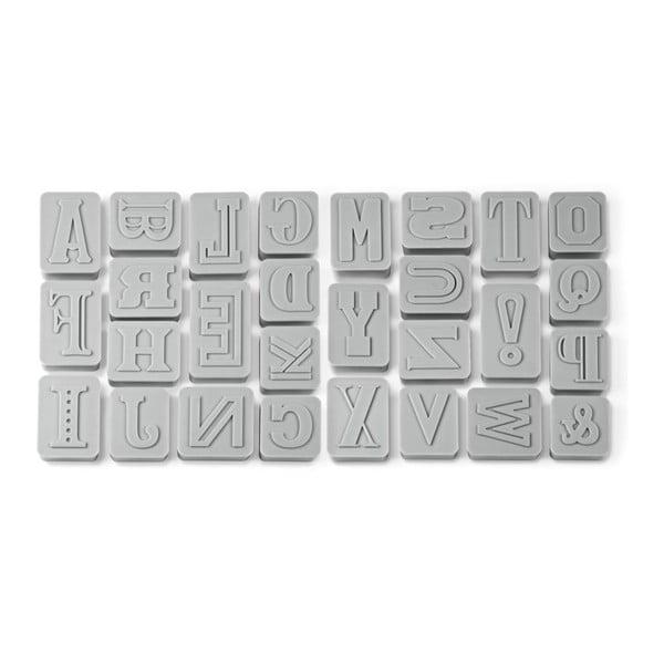Sada abecedních razítek na cukroví Fred & Friends Letter Pressed
