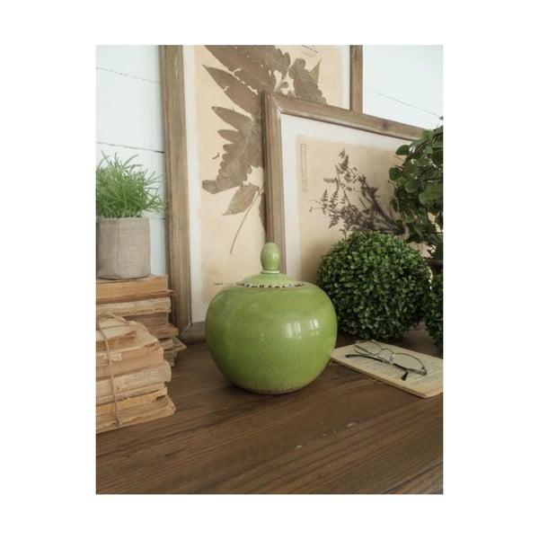 Potiche zöld kerámia doboz, magasság 20 cm - Orchidea Milano