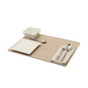 Podnos Legnoart Lunch 46x34 cm, světlý