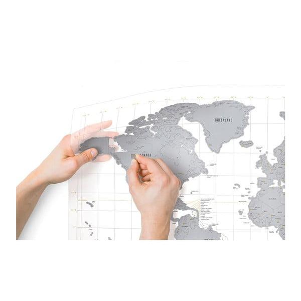 Stírací mapa světa Clear Scratch
