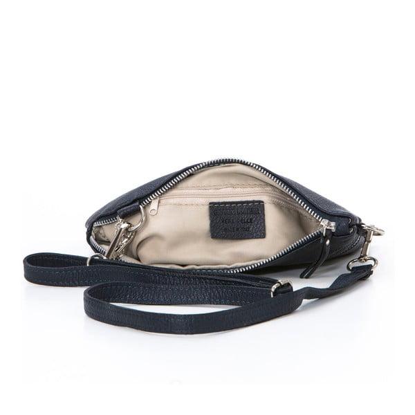 Kožená kabelka Alberto, tmavě modrá