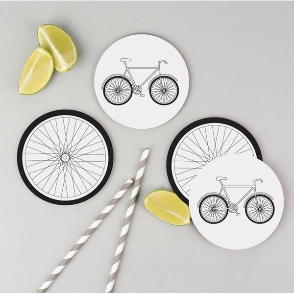 Set 4 podtácků Karin Åkesson Design Bicycle