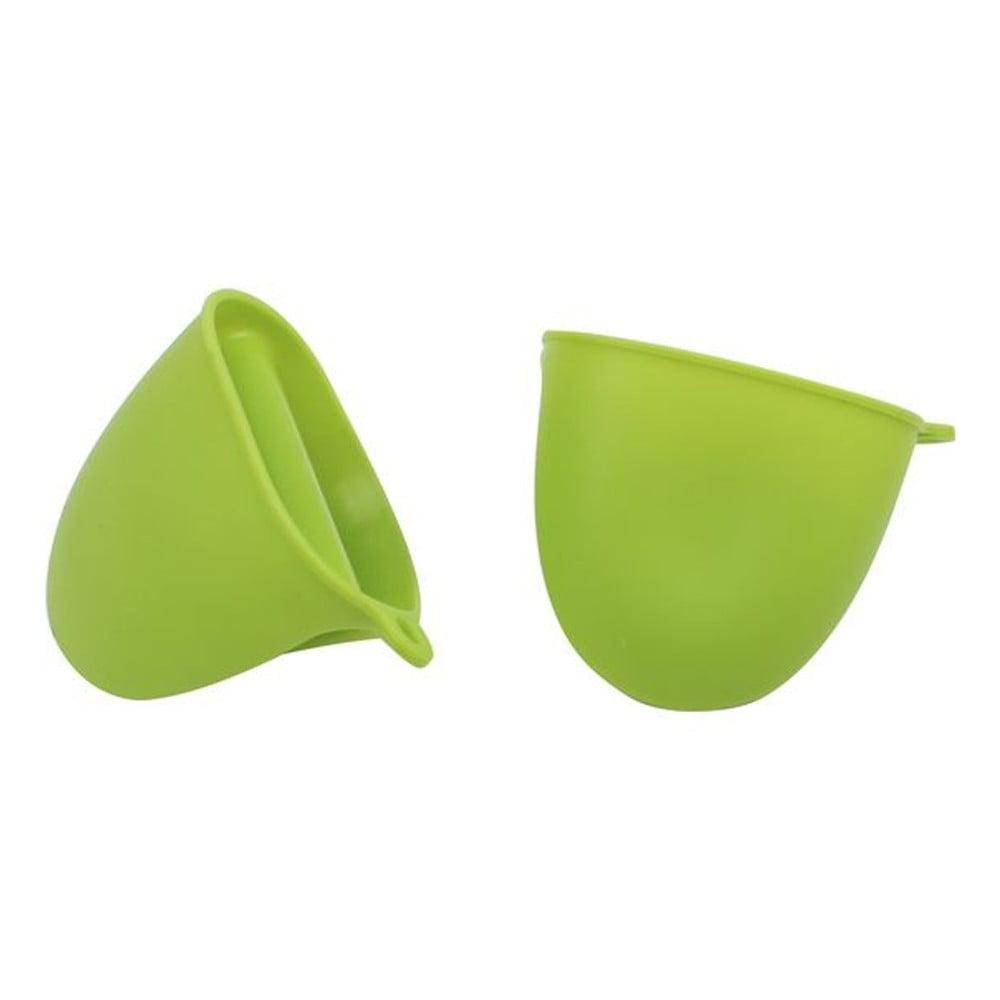 Zelená silikonová chňapka Bergner