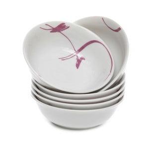Sada 6 porcelánových misek Kasanova Leila Lilac