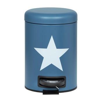 Coș de gunoi cu pedală Wenko Stella, 3 l, albastru închis de la Wenko