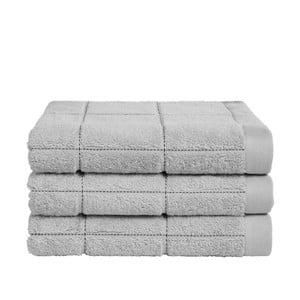 Sada 3 šedých ručníků z organické bavlny Seahorse,60x110cm