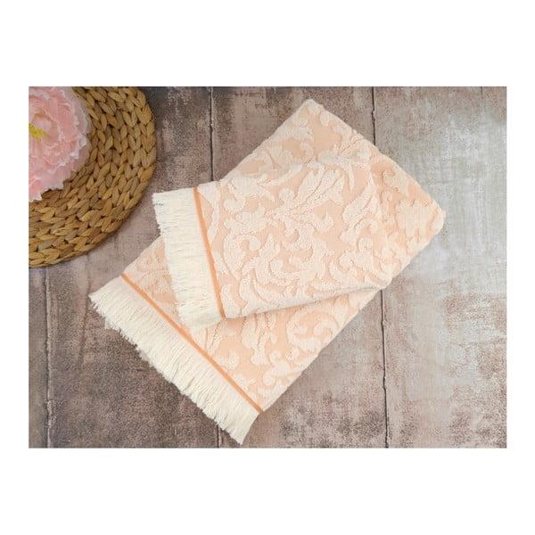 Sada 2 lososových ručníků Irya Home Royal, 50x90 cm