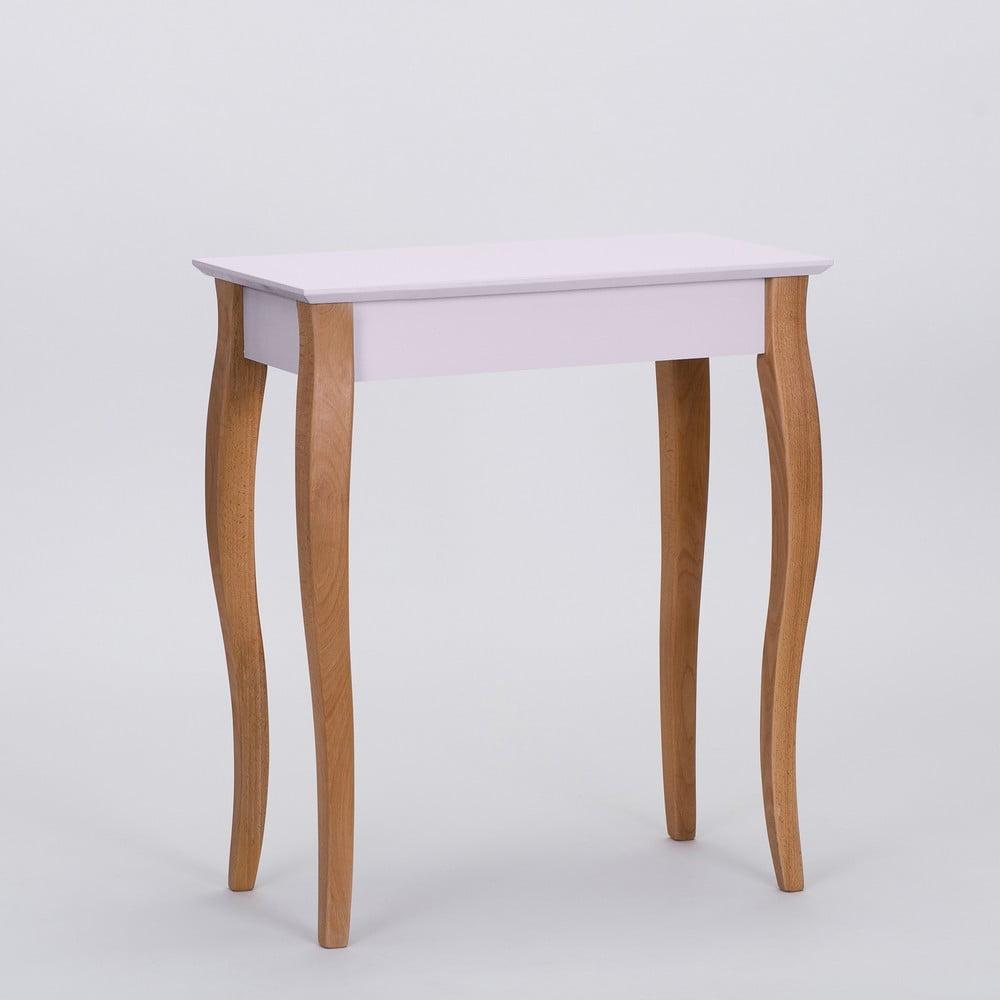 Růžový odkládací stolek Ragaba Console, délka 65 cm
