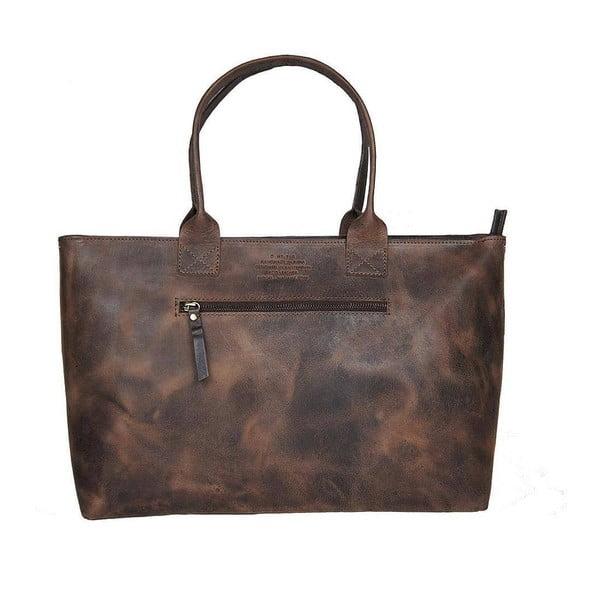 Geantă vintage din piele O My Bag Madam Rose, maro închis