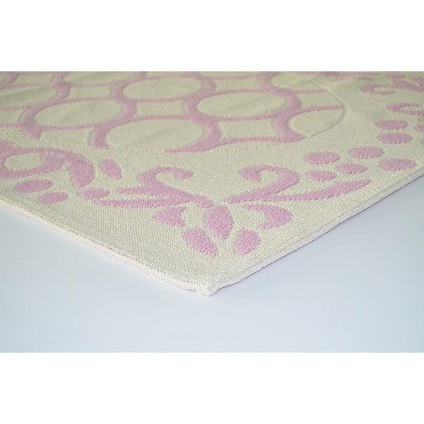 Starorůžový odolný koberec Vitaus Celine, 80x200cm