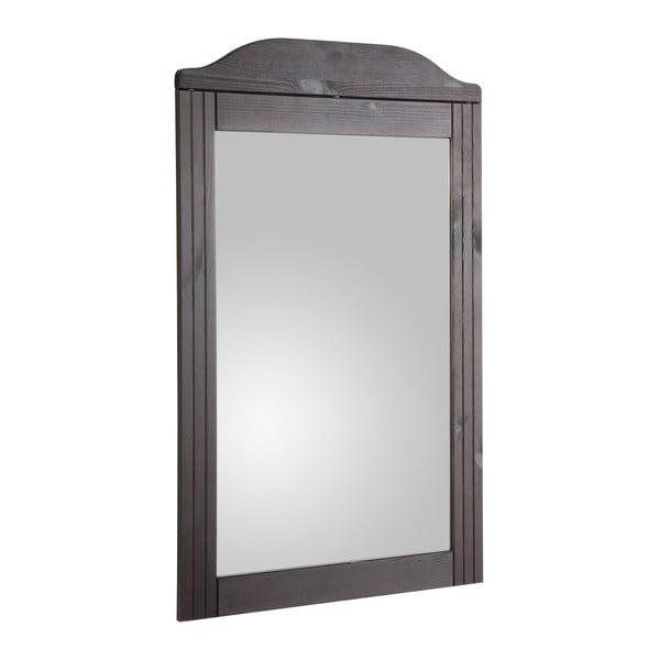 Oglindă cu ramă din lemn masiv de pin Støraa Fiona, maro închis