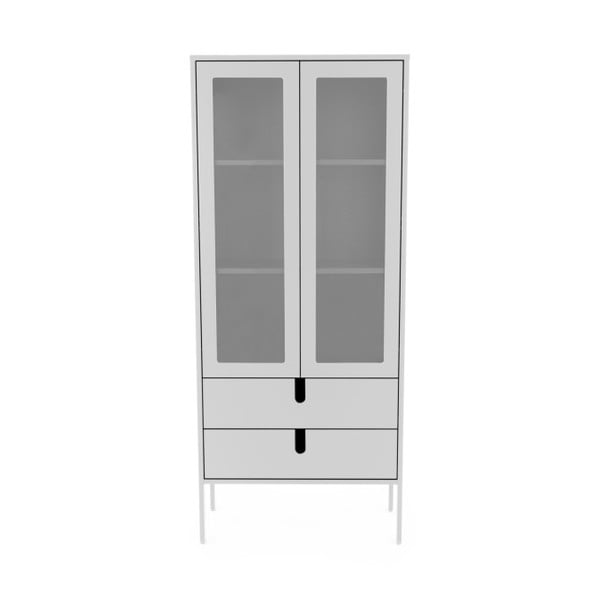 Biała witryna Tenzo Uno, szer. 76 cm