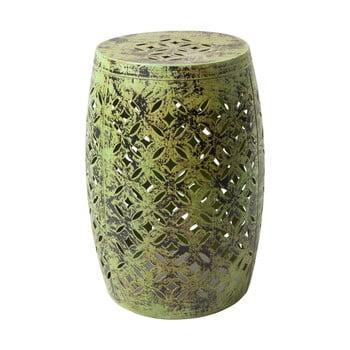 Taburet metalic vopsit manual RGE Nour, ⌀30cm, verde de la RGE