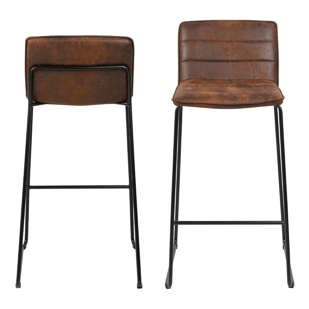 Hnědá barová židle Actona Holland, výška 96 cm