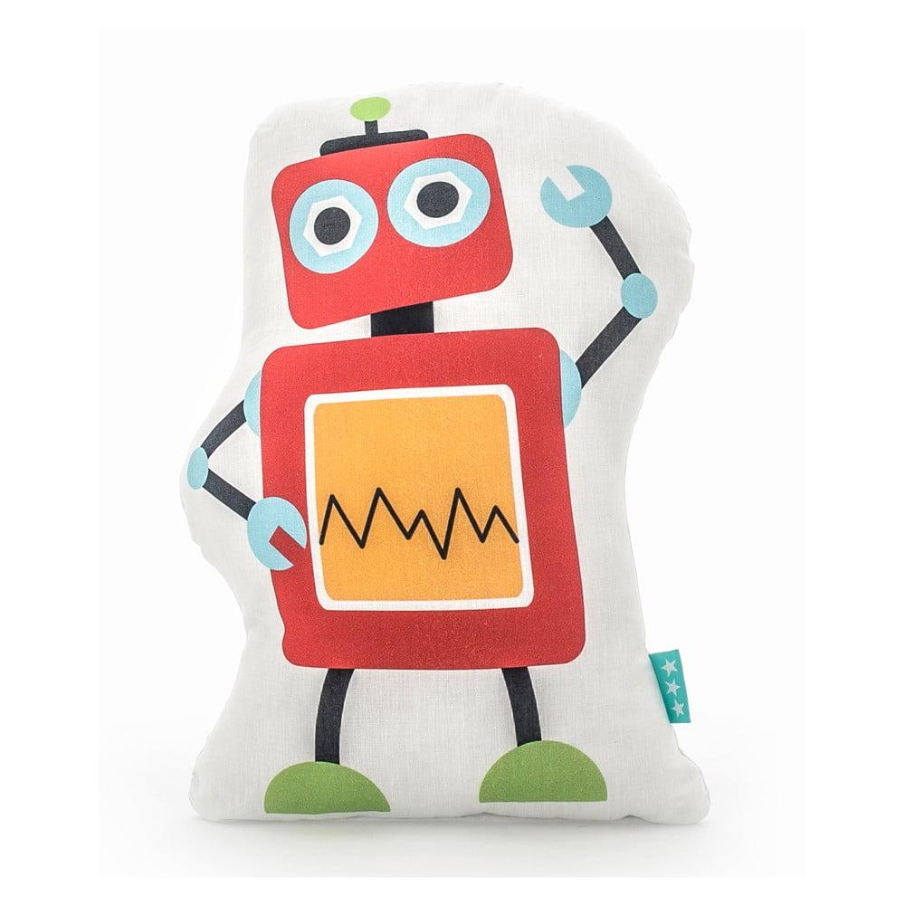 Bavlněný dětský polštářek Mr. Fox Robots 40 x 30 cm