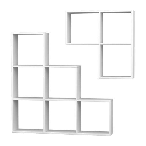 Knihovna Portion 120x120 cm, bílá
