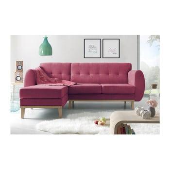 Canapea cu șezlong pe partea stângă Bobochic Paris Viking roșu