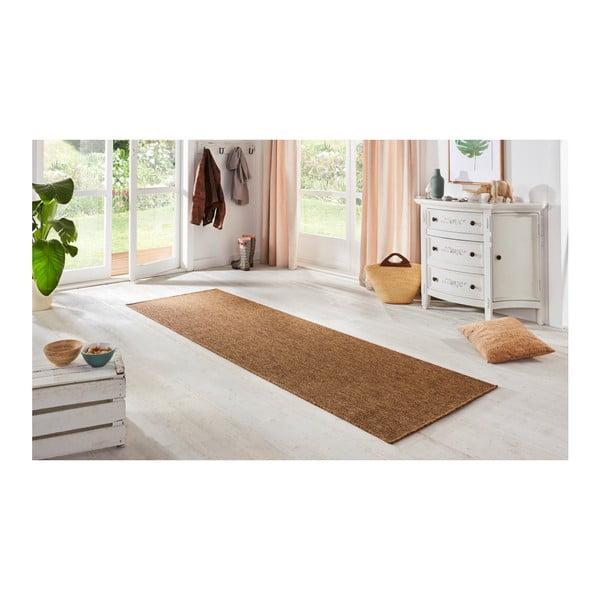 Hnědý běhoun BT Carpet Nature, 80 x 150 cm