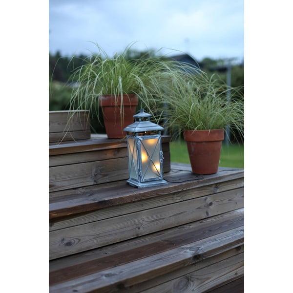 LED lucerna Stallis 30 cm, šedá