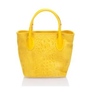 Geantă din piele Massimo Castelli Sussy, galben