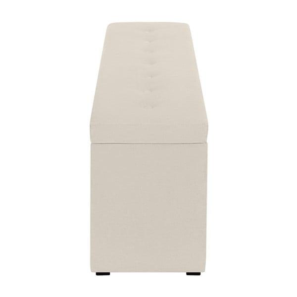 Krémový otoman s úložným prostorem Windsor & Co Sofas Astro, , 140 x 47 cm