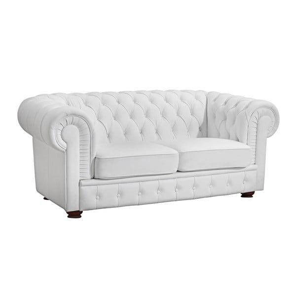 Biała skórzana sofa 2-osobowa Max Winzer Bridgeport