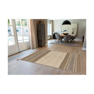 Ručně vyráběný bavlněný koberec Arte Espina Navarro 2917 Elfenbein, 80x150cm