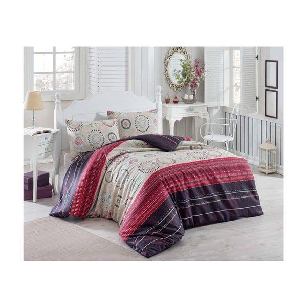 Lenjerie de pat cu cearșaf Maroon Aries, 200 x 220 cm