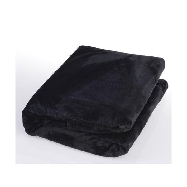 Černá deka Gözze Memphis, 220x240cm