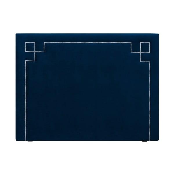 Tmavě modré čelo postele THE CLASSIC LIVING Nicolas, 180 x 120 cm