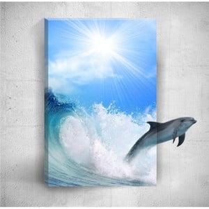Nástěnný 3D obraz Mosticx Dolphin, 40 x 60 cm