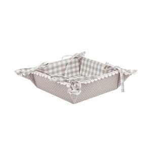 Košík na pečivo Basic Hearts, šedý