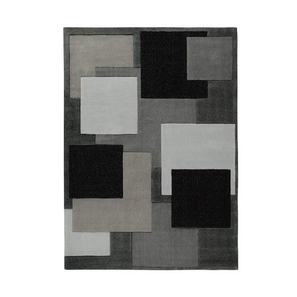 Ručně tkaný koberec Cool Black, 90x160 cm