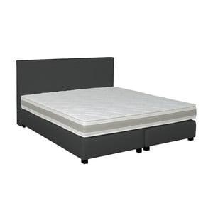Tmavě hnědá boxspring postel Revor Deco,140x200cm