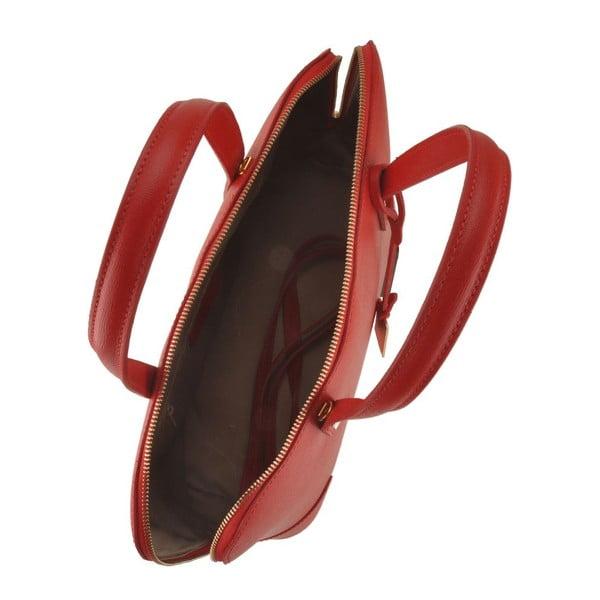 Kožená kabelka Merope, červená