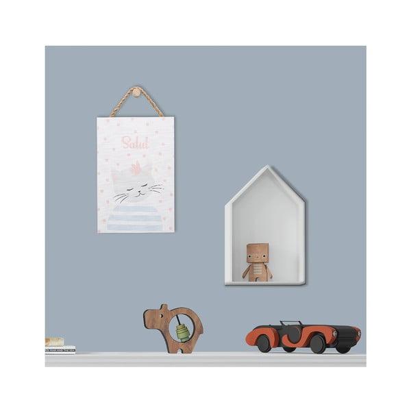 Nástěnná dekorace s motivem kočky KICOTI, 20 x 30 cm