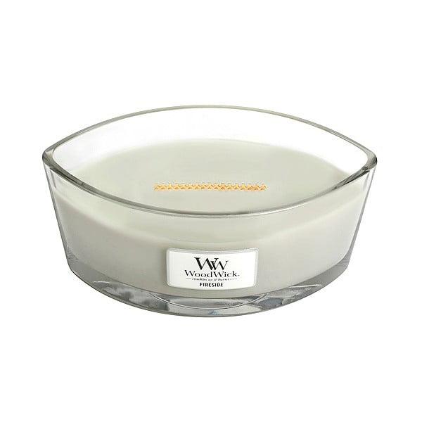 Vonná svíčka WoodWick Sweet Home Oheň v krbu, 453 g, 50 hodin