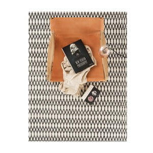 Vlněný koberec Linie Design Elliot White Black, 170x240 cm