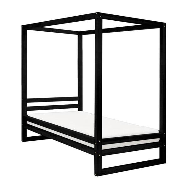 Čierna drevená jednolôžková posteľ Benlemi Baldee, 190 × 120 cm