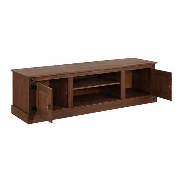 Tmavě hnědý TV stolek Støraa Alfredo