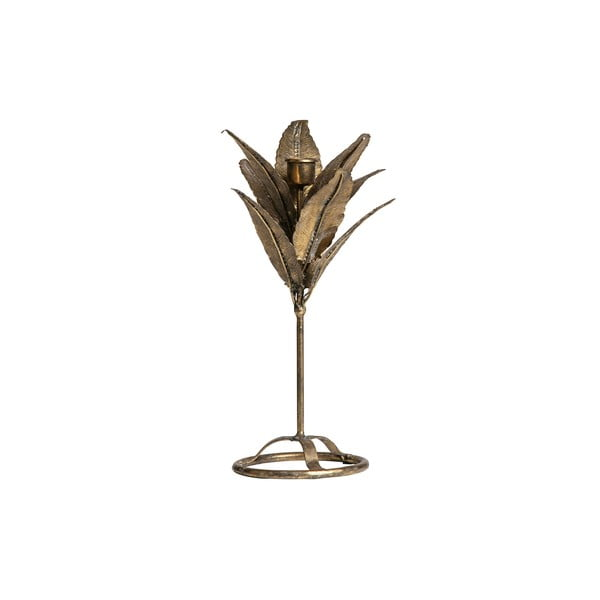 Svícen ve tvaru listů ve zlaté barvě BePureHome, výška 32 cm