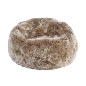 Šedohnědý sedací vak z ovčí kožešiny Auskin, výška 50 cm